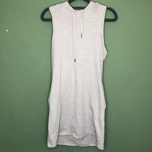 Freedom Trail Hooded Sleeveless Sweatshirt Dress M